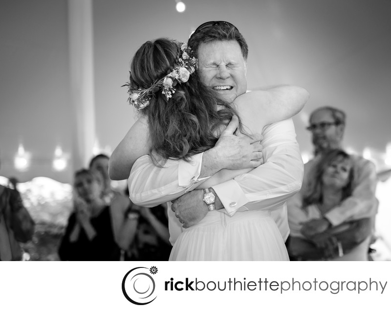 Emotional Father Daughter Dance At Seacoast Science Center Wedding