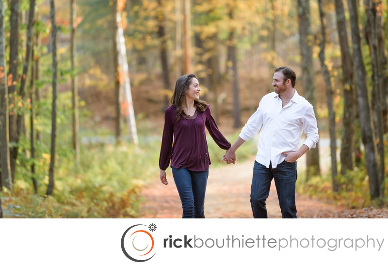 New Hampshire Engagement Session In The Fall