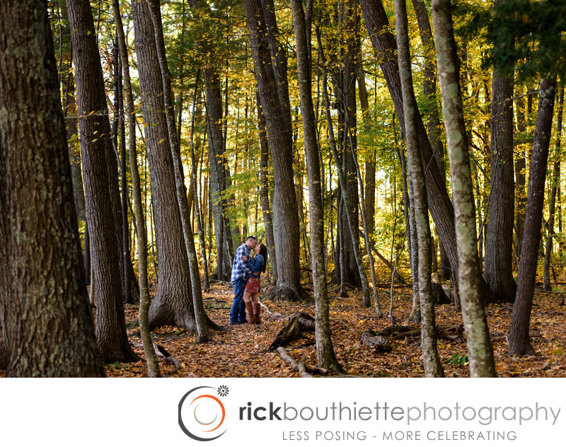 Fall Engagement Session At Wagon Hill - Durham, NH