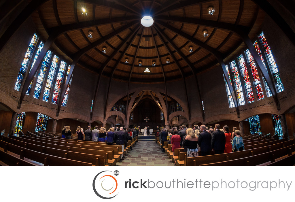 NEW HAMPSHIRE'S SAINT ANSELM ABBEY WEDDING CEREMONY