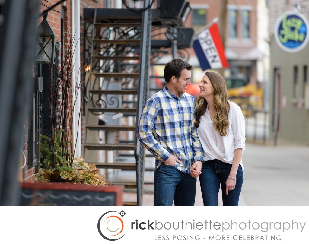 Love In The Streets - Engagement Photography Portsmouth NH