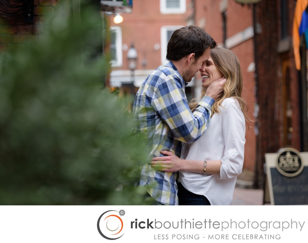 Engagement Session Downtown Portsmouth NH