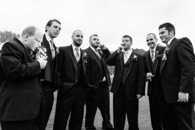 GROOM AND GROOMSMEN - CANDIA WOODS WEDDING