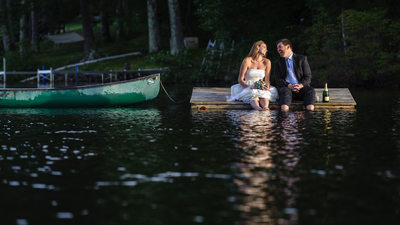 LAKE ROMANCE - LAKE SHORE VILLAGE RESORT WEDDING