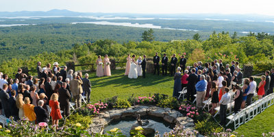 BEAUTIFUL OVERVIEW OF A CASTLE IN THE CLOUDS WEDDING