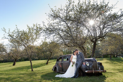 Rustic Sunset Hill Orchard Wedding