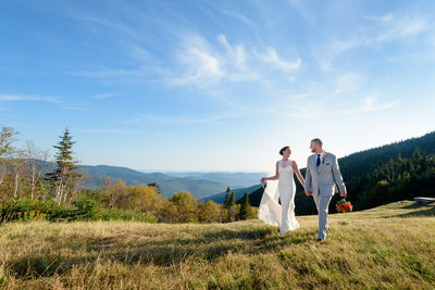 Waterville Valley Mountaintop New Hampshire Wedding