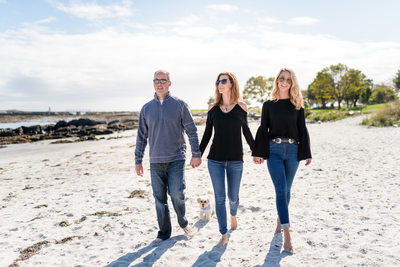 Modern Family Photography - Walking The Beach