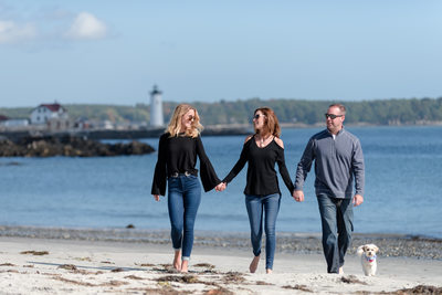 Walking On The Beach - Seacoast Family Portraits