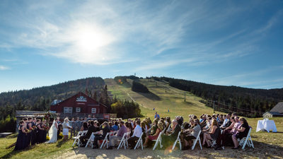 Waterville Valley Resort Mountaintop Wedding Ceremony