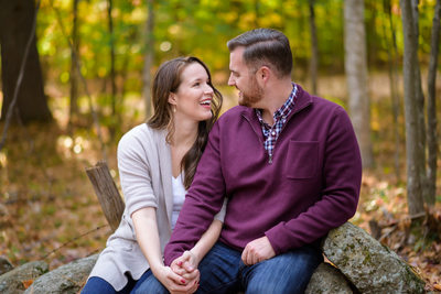 NH Engagement Photography - Fall In The Country