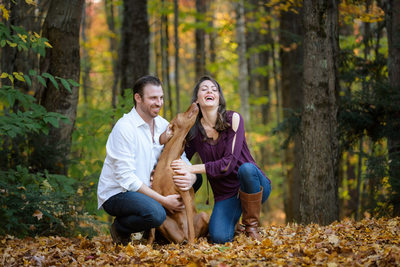 Engagement Session Kisses + Fall Color