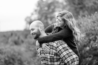 New Hampshire Apple Orchard Engagement Session