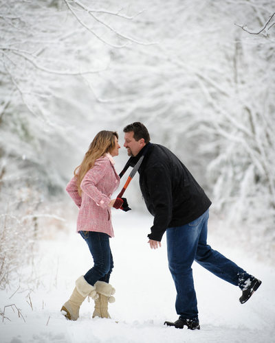 WINTER WONDERLAND NH ENGAGEMENT SESSION
