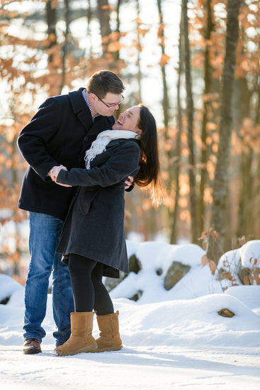 New Hampshire Winter Engagement Photography