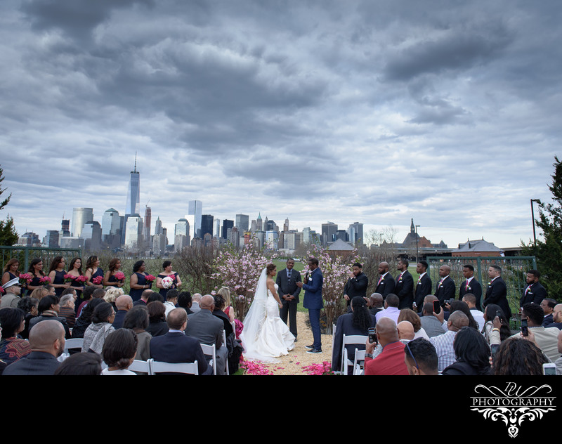 Liberty House Restaurant Wedding Outdoor Ceremony