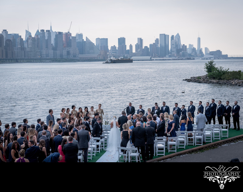 Wedding Ceremony at Waterside Events In North Bergen