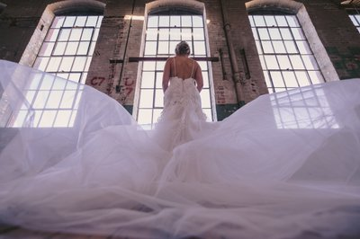 Bridal dress train photo at The Art Factory in Paterson
