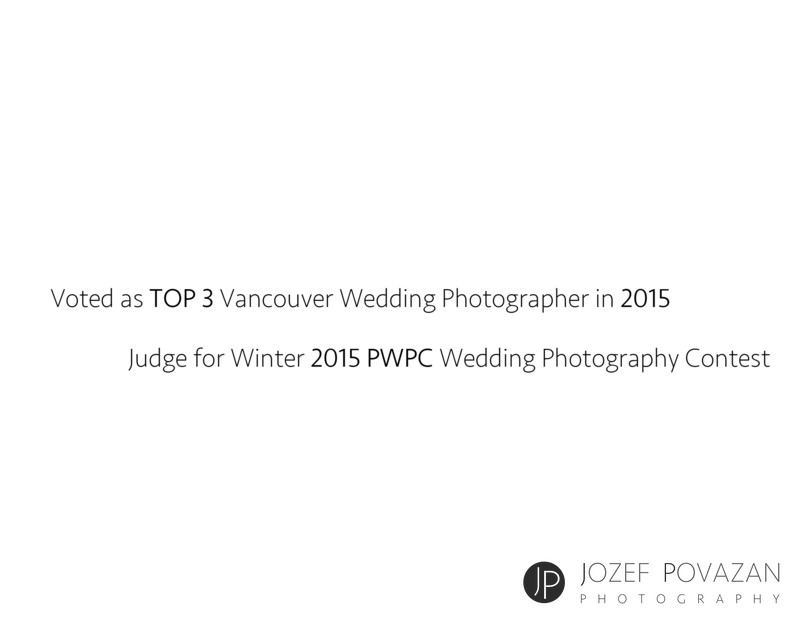 Top three Vancouver wedding photographer Jozef Povazan