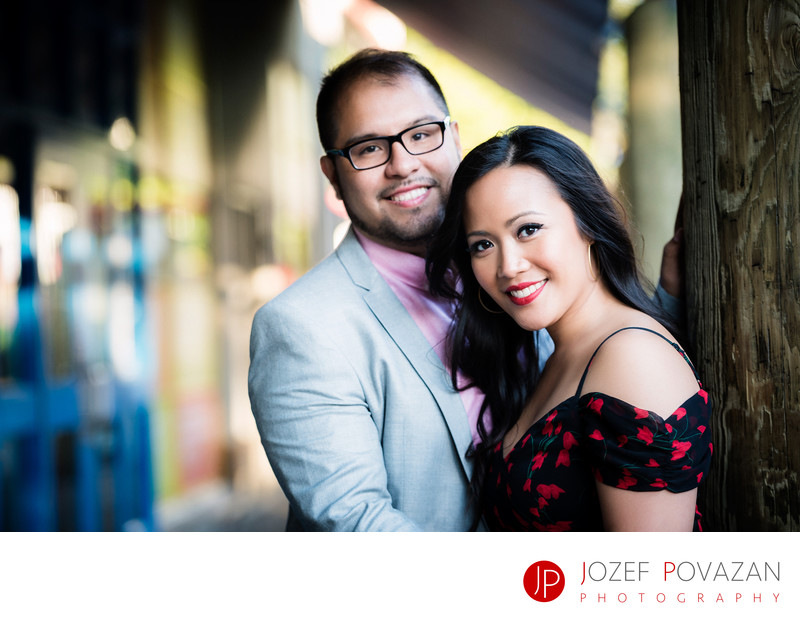 Granville Island pre wedding pictures romantic location