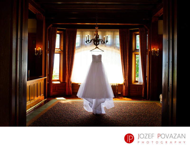 Hatley Castle wedding dress picture Povazan Photography