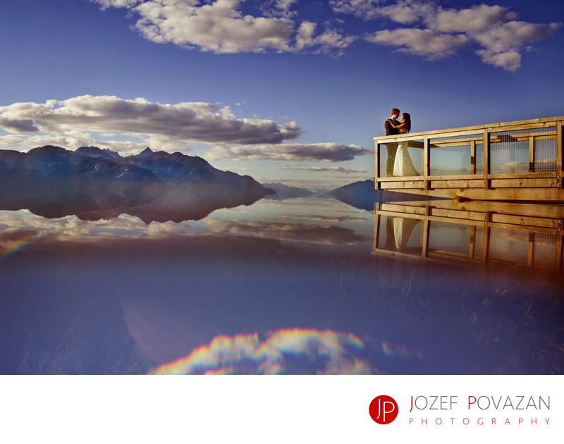 Sea To Sky Gondola Epic Scenic Sunset Wedding Pictures