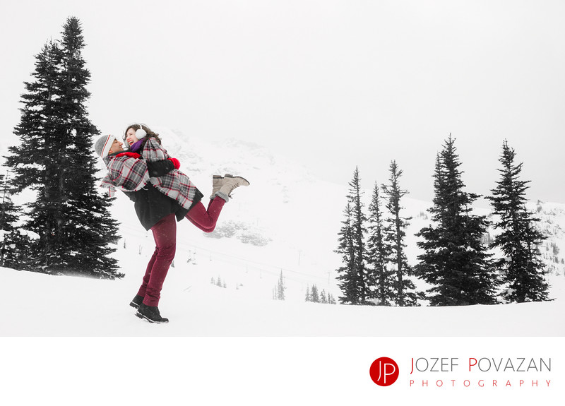 Whistler Blackcomb love story lifestyle engagement fun