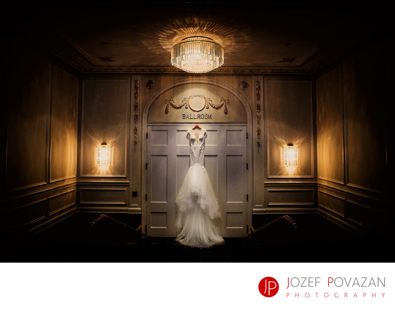 Rosewood Hotel Georgia Wedding Photographer Bride Dress