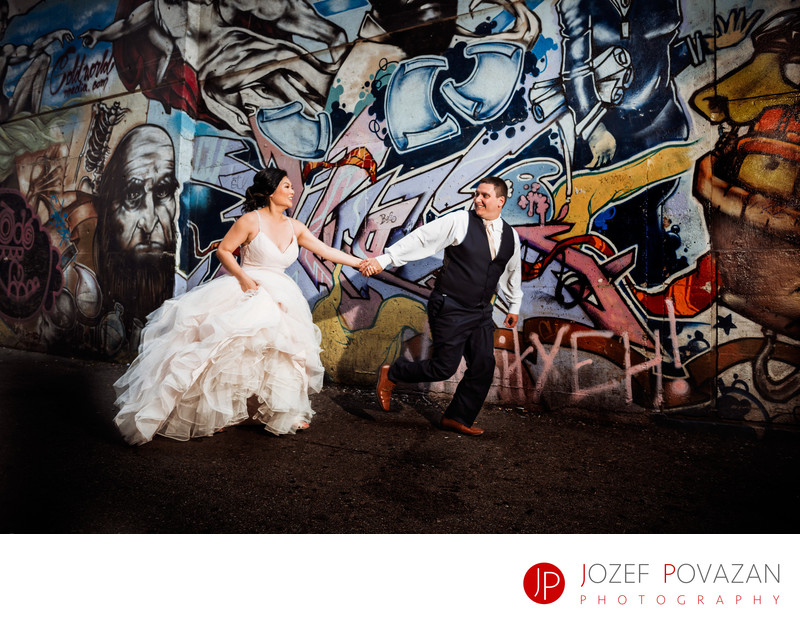 Gastown Vancouver Graffiti Back-lane Wedding pictures