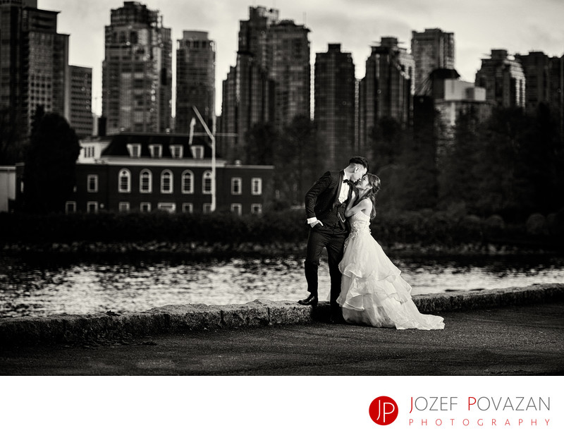 Best Vancouver Wedding Photographer of 2017 Bride in BW