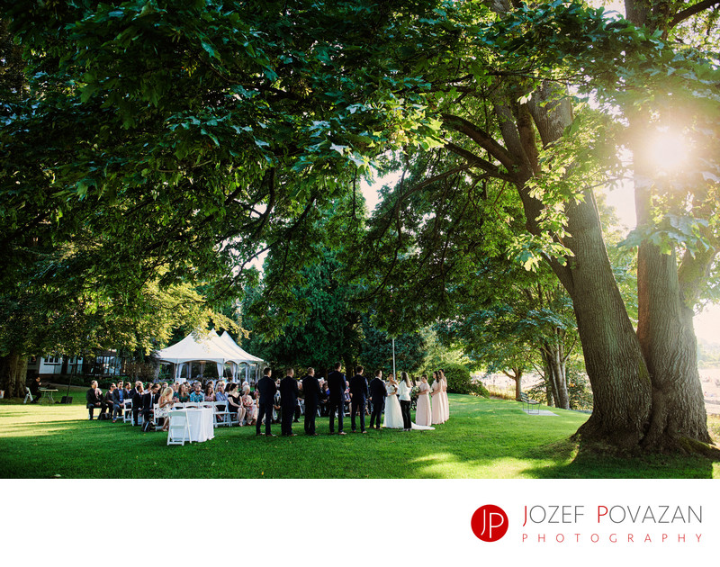 Brock House North wedding photographers sunset ceremony
