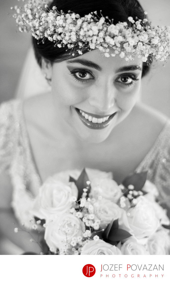 Persian Wedding bride portrait first look session pics