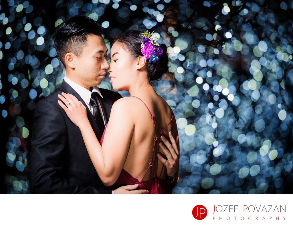 Fairmont Pacific Rim pre wedding night portrait session
