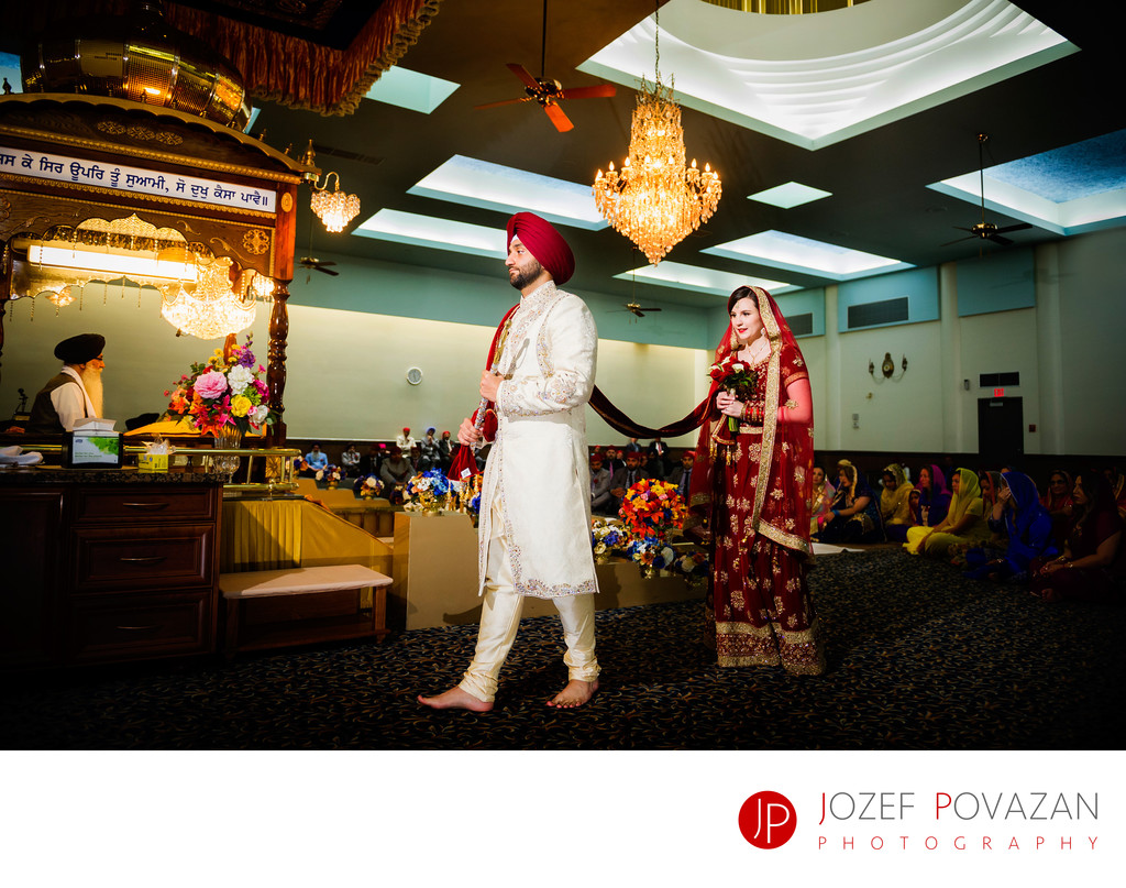 Akali Singh Sikh Wedding Photographer Ceremony Walk