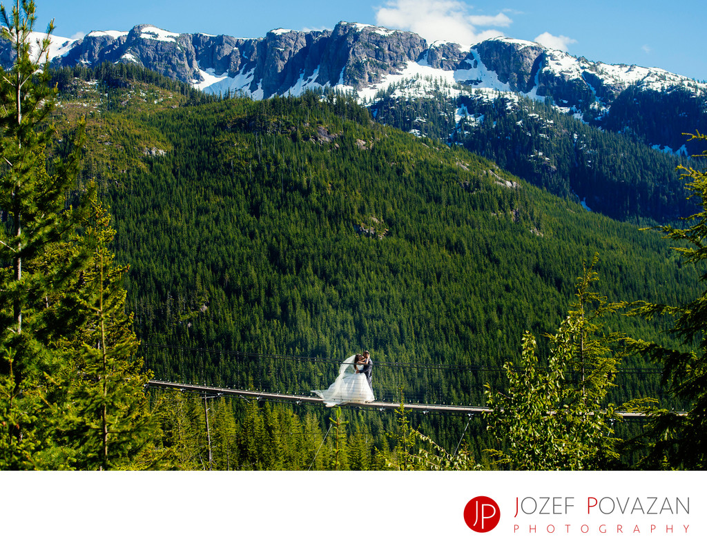 Sea to Sky Gondola Suspension bridge wedding formals