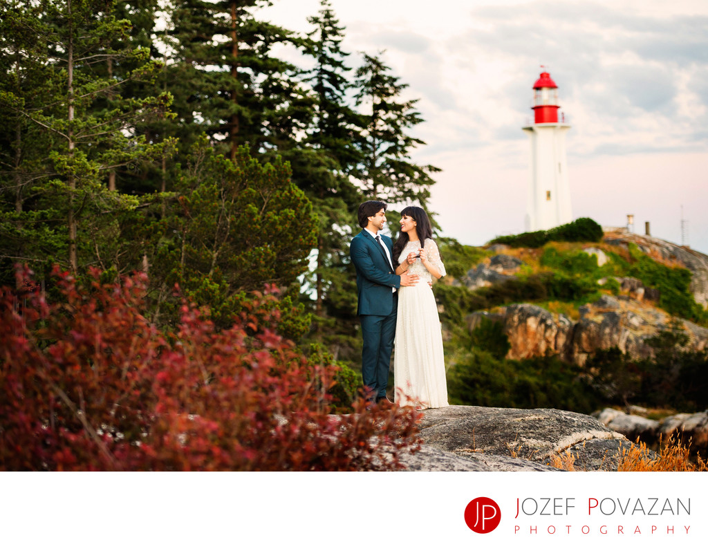 Light House West Vancouver Wedding Pictures Bride Groom