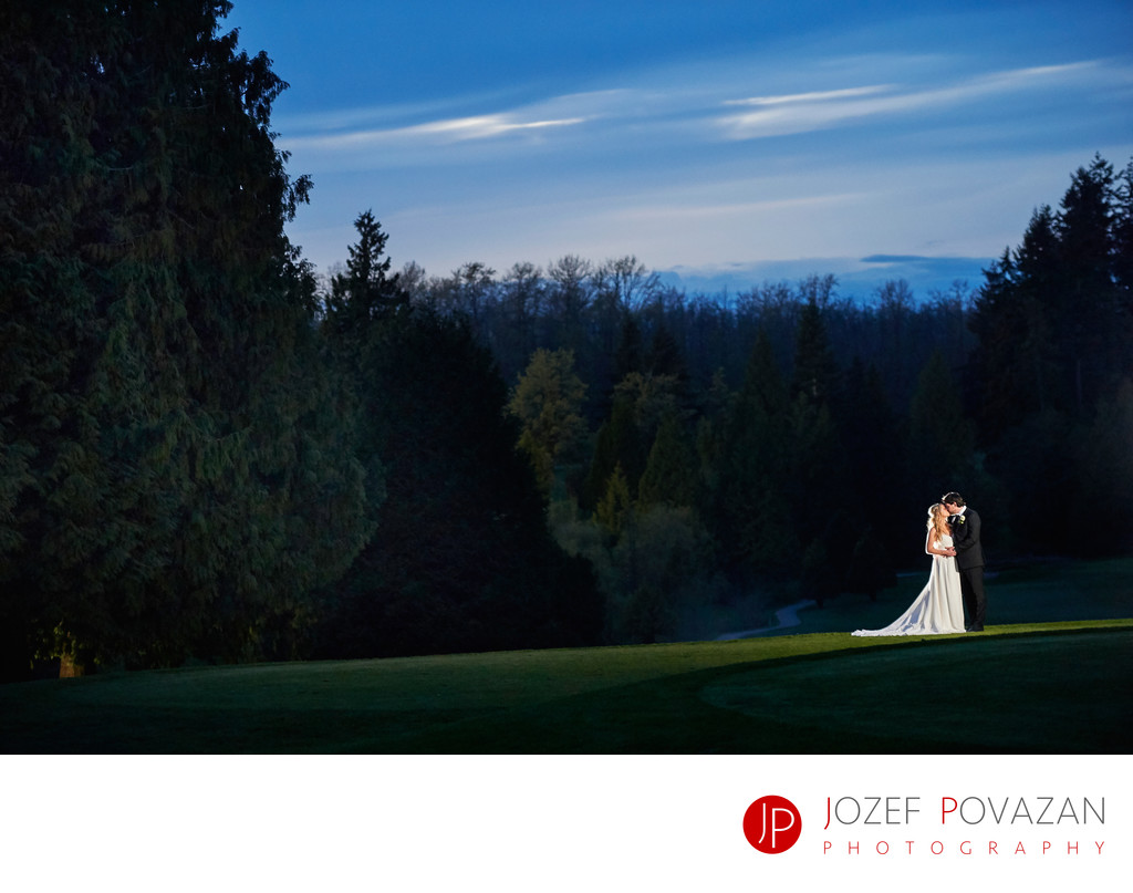 UBC University Golf Club Wedding Photographer Portraits