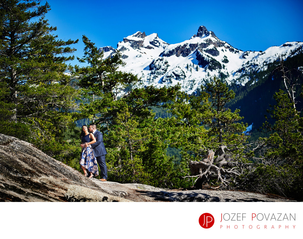 Sea to Sky Gondola pre wedding portraits Sky Pilot view