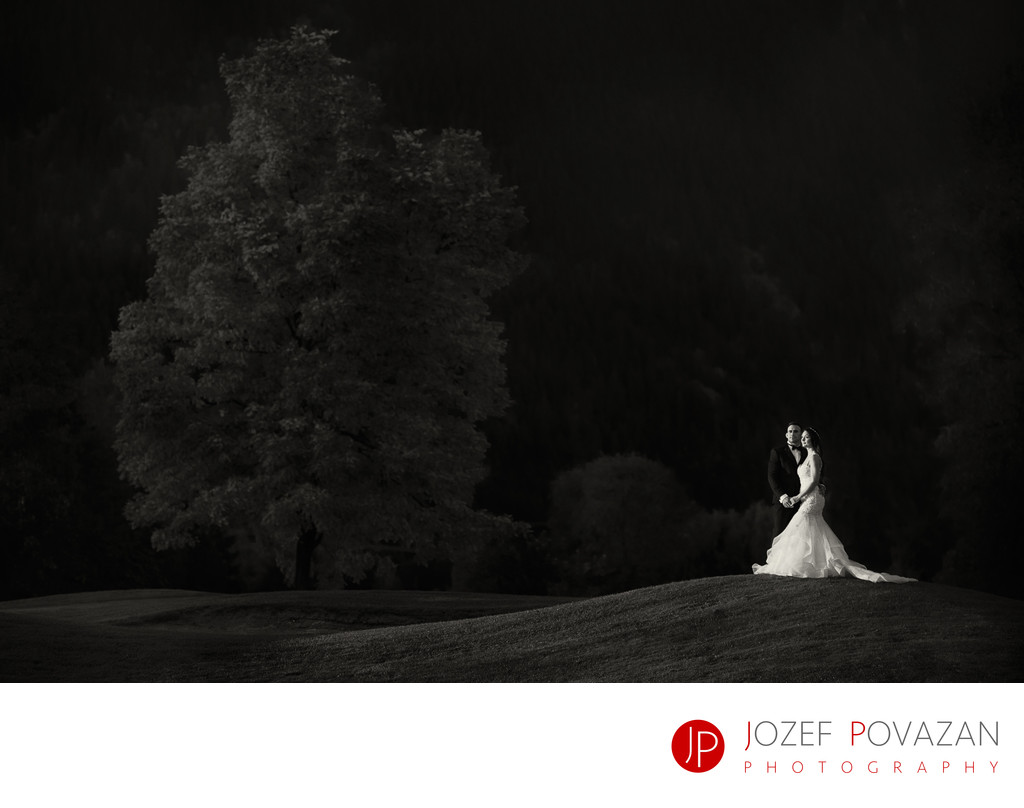 Swan-e-set Wedding Photographer Night Portrait Bride