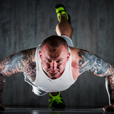 Crossfit training workout lifestyle studio photography
