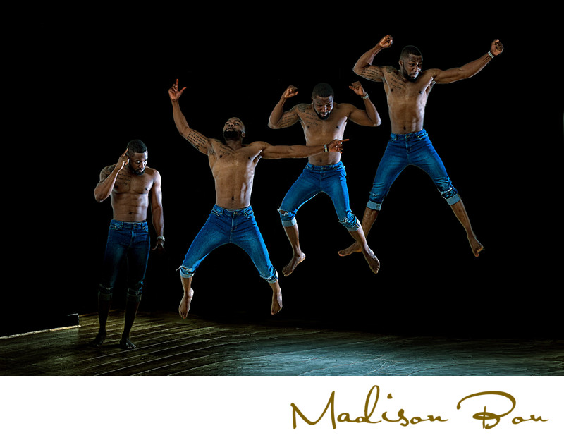 harrogate fashion photographers - jumping man