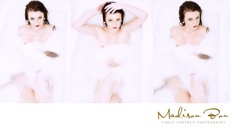 York boudoir photographers - bath tryptic