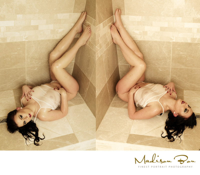 York boudoir photographers - shower floor