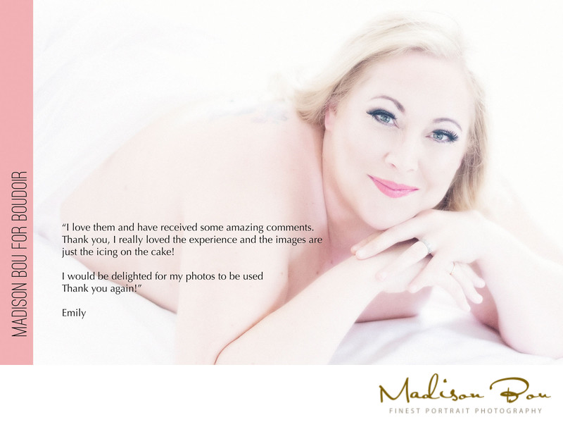 York boudoir photographers - emily endorsement