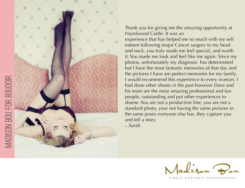 harrogate boudoir photographers - sarah endorsement