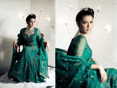 Leeds fashion photographers - asian green dress