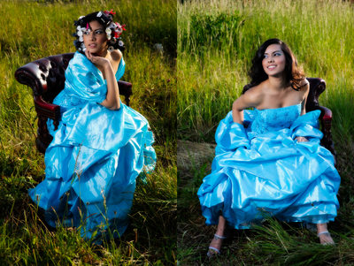 Leeds fashion photographers - blue dress
