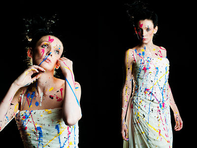 leeds fashion photographers - bride painted