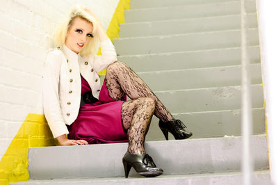 Leeds fashion photography - patterned tights