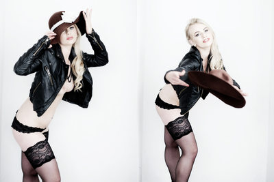 york boudoir photographers - leather jacket